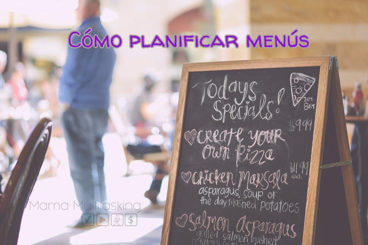 planificar menus