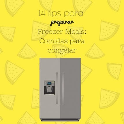comidas para congelar